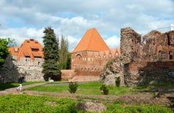 Torun, ruines de château Images libres de droits