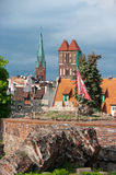 Torun, ruins of castle Stock Photography