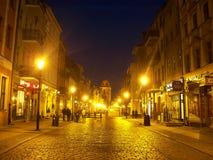 Torun-Straße lizenzfreie stockfotografie