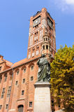 Torun town hall Copernicus statue Stock Photography
