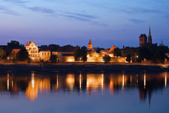 Torun at Twilight River View Stock Images