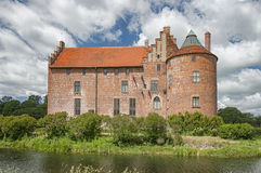 Torups Castle. Torups slott is a castle in Svedala Municipality, Scania, in southern Sweden. It is situated approximately 15 kilometres (9.3 mi) east of Malmo Stock Image