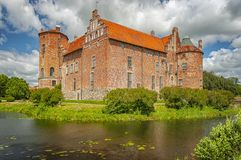 Torups Castle in Sweden. Torups slott is a castle in Svedala Municipality, Scania, in southern Sweden. It is situated approximately 15 kilometres east of Malmo Stock Image