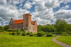 Torups Castle in Skane. Torups slott is a castle in Svedala Municipality, Scania, in southern Sweden. It is situated approximately 15 kilometres 9.3 mi east of Royalty Free Stock Photo