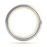 Torus de prata do copyspace do anel isolado Imagem de Stock