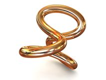 Torus knot Royalty Free Stock Image