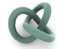 Torus knot. Very beautiful graphic three-dimensional illustration. torus knot. 3d Royalty Free Stock Photo