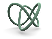 Torus knot. Stock Photos