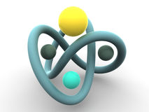 Torus knot Stock Image
