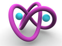 Torus knot Stock Photos