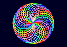 Torus of Doubly Twisted Strips - Abstract Colorful Shape 3D Illustration Royalty Free Stock Images