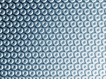 Torus pattern shiny metal effect background Royalty Free Stock Photography
