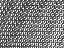 Torus pattern shiny metal effect background Royalty Free Stock Image