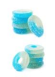 Torus shaped gelatin candy isolated Stock Image