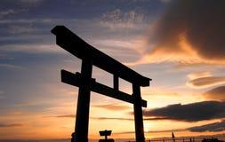 Torus versehen an Mt. Fuji mit einem Gatter Stockfoto