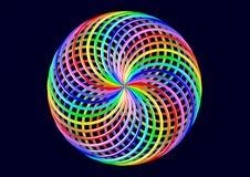 Torus von Möbius-Streifen - abstrakte bunte Illustration der Form-3D Lizenzfreie Stockbilder