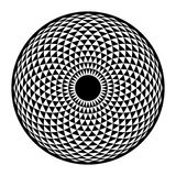 Torus Yantra, grundläggande beståndsdel för hypnotisk geometri för öga sakral Arkivfoton