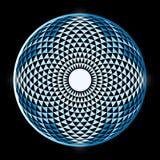 Torus Yantra, Hypnotic Oog heilige meetkunde stock illustratie