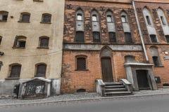 TORUŃSKI, POLSKA, MAJ - 18, 2016: Tradycyjna architektura w sławnym Zdjęcia Royalty Free