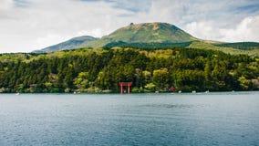 Torussen in Hakone, Japan stock foto's