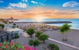 Torviscas strand i Tenerife royaltyfri fotografi