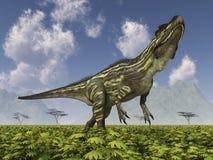 Torvosaurus do dinossauro em uma paisagem ilustração do vetor