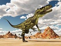Torvosaurus do dinossauro no deserto ilustração stock