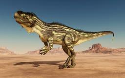 Torvosaurus do dinossauro no deserto ilustração royalty free