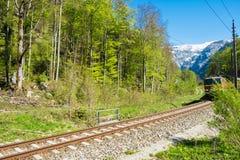 Tory szynowi pociąg na linii kolejowej Zdjęcie Stock