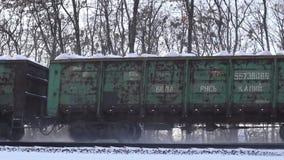 Tory szynowi w śniegu zbiory wideo