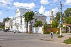 Torzhok De administratieve bouw stock fotografie