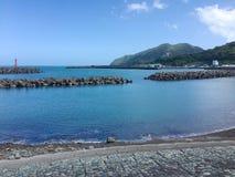 Tosa吴市海湾看法在四国海岛,日本上的 免版税库存图片