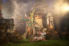 Tosakanth e Hanuman, história do ramayana imagem de stock royalty free