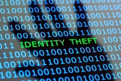 Tożsamości kradzież online Obrazy Royalty Free