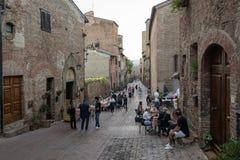 Toscânia Certaldo através de Boccaccio Imagem de Stock Royalty Free