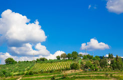 Toscânia, paisagem rural italiana Imagens de Stock Royalty Free