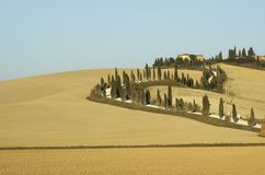 Toscaan lanscape royalty-vrije stock fotografie