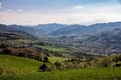 Toscaans heuvelslandschap royalty-vrije stock afbeelding