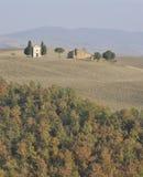 Toscaans landschap in de Herfst royalty-vrije stock fotografie