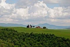 Toscaans landschap in de lente Stock Afbeelding
