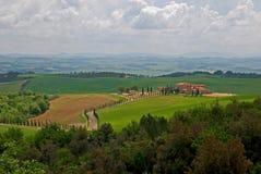 Toscaans landschap in de lente Stock Foto
