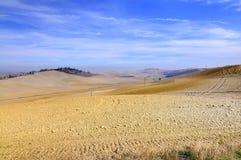 Toscaans landschap in Kreta van siena Royalty-vrije Stock Foto's