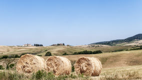 Toscaans platteland Stock Foto