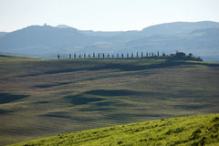 Toscaans Platteland, Italiaans landschap Stock Afbeelding