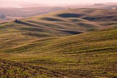 Toscaans Platteland, Italiaanse lautumn andscape Stock Afbeeldingen