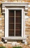 Toscaans raamkozijn Stock Foto's
