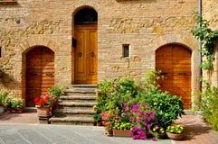 Toscaans traditioneel huis in Italië Stock Afbeelding
