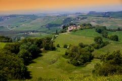 Toscaanse Landshape royalty-vrije stock afbeelding