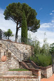 Toscaanse tuintrap Royalty-vrije Stock Foto's