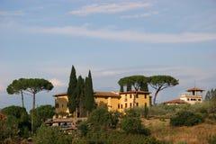 Toscaanse villa Royalty-vrije Stock Foto's